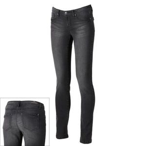 Lauren Conrad faded black skinny jeans